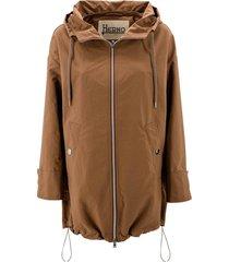 drawstring hood jacket