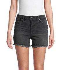 constance high-rise denim shorts