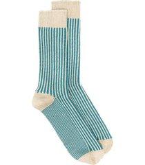 thunders love striped knit calf-length socks - neutrals