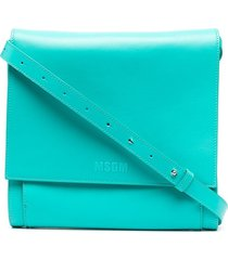 msgm folding crossbody bag - blue