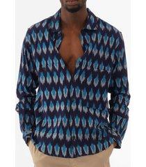ymc doc savage shirt - blue p2lai-40