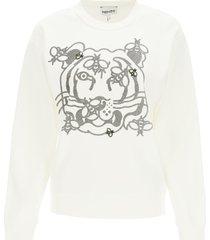 kenzo bee a tiger crewneck sweatshirt