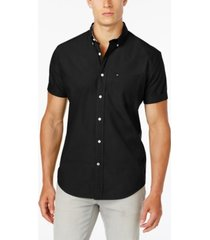 tommy hilfiger men's big & tall maxwell short-sleeve button-down shirt
