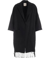 sigmund wool coat with fringes