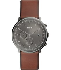 relógio cronógrafo fossil masculino - fs5517/0cn marrom