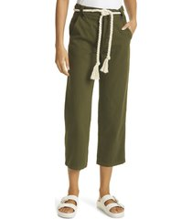 women's the great. high waist trousers, size 31 - green