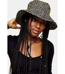quilted floral print bucket hat - multi