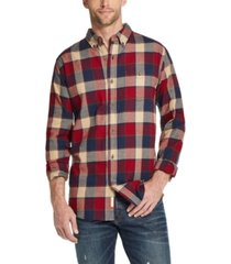 weatherproof vintage men's brushed antique flannel plaid shirt