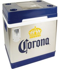 corona cruiser thermoelectric cooler with bottle opener, 45l / 48 quart capacity, 12v dc/110v ac for camping, cottage, beach, rv, bbqs, tailgating, fishing