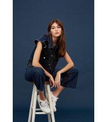colete jeans bordado black jeans