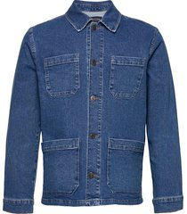 chester denim worker jacket jeansjacka denimjacka blå lexington clothing