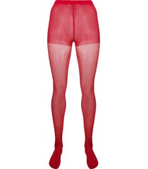 junya watanabe high-waist semi-sheer socks - red