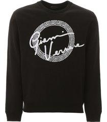 versace gv signature embroidery sweatshirt