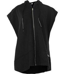 colete colcci fitness oversized capuz preto