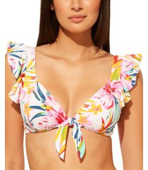 bleu by rod beattie beachy keen ruffled underwire bikini top women's swimsuit