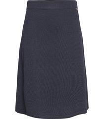 chastity cotton/bamboo knitted skirt knälång kjol blå lexington clothing