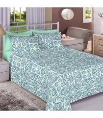 jogo de cama 140 fios casal 100% algodão carla - bene casa