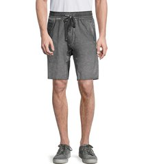 jetlag men's 3d-cut drawstring shorts - grey - size l