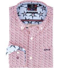 nza new zealand overhemd rood dessin