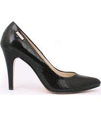 skórzane szpilki zapato 035 czarny łapki