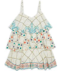little girl's & girl's ruffle tier dress