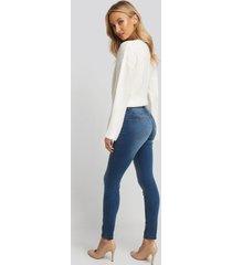 na-kd skinny low waist jeans - blue