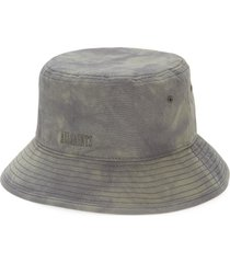 allsaints tie dye cotton bucket hat in black at nordstrom