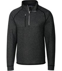 cutter & buck men's big and tall mainsail half zip sweater