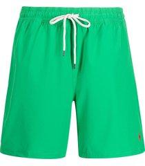 polo ralph lauren drawstring recycled-polyester swim shorts - green
