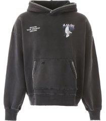 amiri eternal dove hoodie