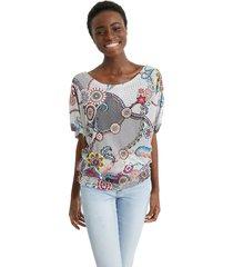 blusa blanco-multicolor desigual