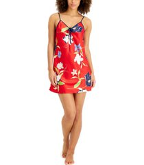 inc floral-print satin chemise nightgown, created for macy's