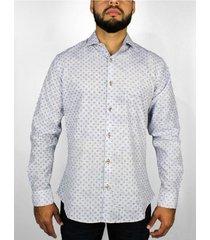 camisa manga larga print contraste para hombre delascar cc0668