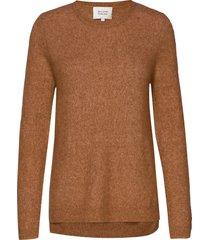 brook knit new o-neck gebreide trui bruin second female