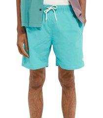 men's scotch & soda solid nylon swim trunks, size x-large - blue