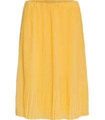 pearl cecilie skirt knälång kjol gul bruuns bazaar