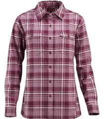 wolverine women's redwood shirt jac periwinkle plaid, size s