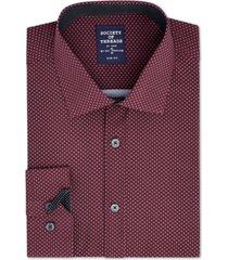 society of threads men's slim-fit performance stretch diamond dress shirt