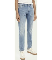 scotch & soda ralston regular slim fit jeans – blauw trace