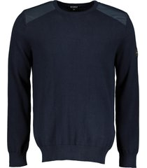 ecoalf sweater - modern fit - blauw