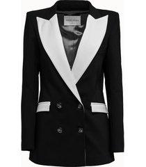 hebe studio blazer bianca rever colorblock