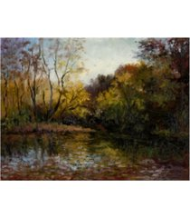 """mary jean weber bend in the river at morrow canvas art - 37"""" x 49"""""""