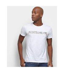 camiseta acostamento faixa logo masdculina