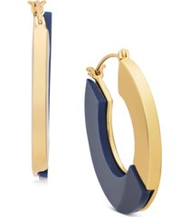 "alfani gold-tone & colored medium flat hoop earrings, 1.5"", created for macy's"