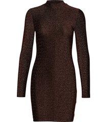 jennie o-n dress 9559 knälång klänning brun samsøe samsøe