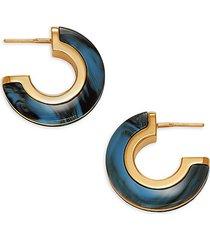 marbled huggie hoop earrings