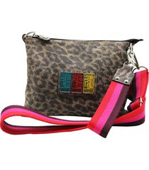 morral de cuero animal print leblu