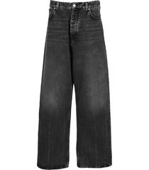 balenciaga wide leg jeans