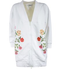 vivetta floral detail zip jacket