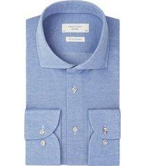 overhemd profuomo blauw knitted pique mercerised